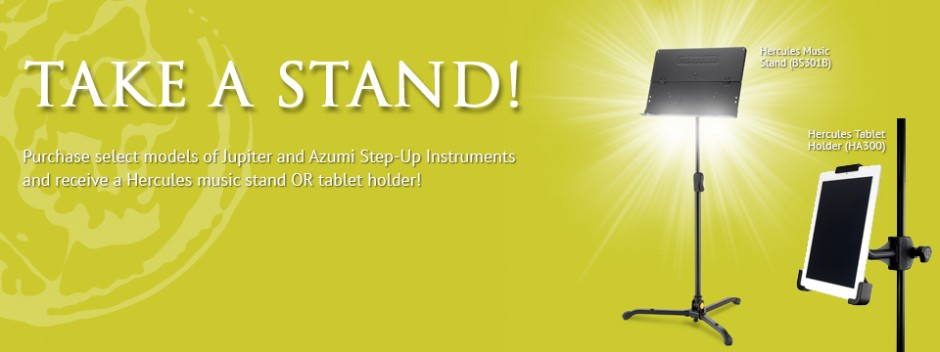 Get a Free Music Stand or Tablet Holder with select purchases!